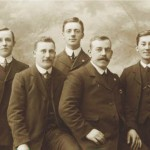left to right - Robert Duncan True Britton Burn Richard Young George W Purvis Anthony Ramsey