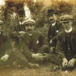 left to right - Thomas Tinmouth Thomas Houlsby Thomas Purvis Unknown James Ramsey