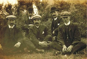 left to right - Thomas Tinmouth Thomas Houlsby Thomas Purvis Unknown James Ramsey